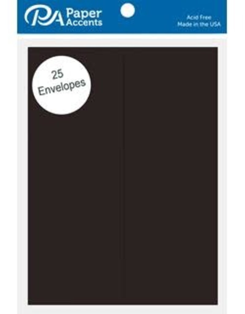 Paper Accents A2 Envelopes 4.25 x 5.5 Inch 25 Piece Pack Black