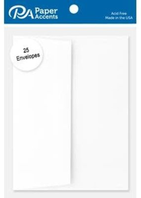 Paper Accents A2 Envelopes 4.25 x 5.5 Inch 25 Piece Pack White