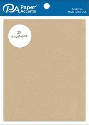 PA Essentials Envelope 4.25 x 5.5 Inch 25 Pack Brown Bag