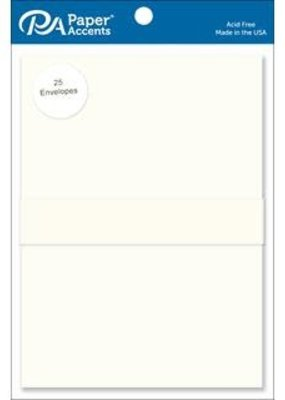Paper Accents Envelope 5.25 x 7.25 25 Piece Cream