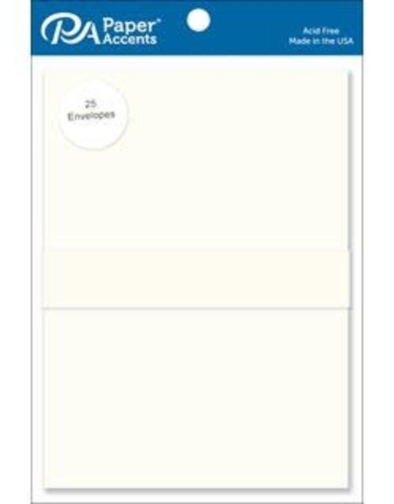 Paper Accents A7  Envelopes 25 Piece Pack 5.25 X 7.25 Cream