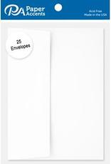 Paper Accents A7  Envelopes 25 Piece Pack 5.25 X 7.25 White