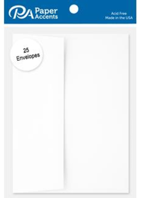 Paper Accents A7  Envelopes 25 Piece Pack 5.25 X 7.25 White