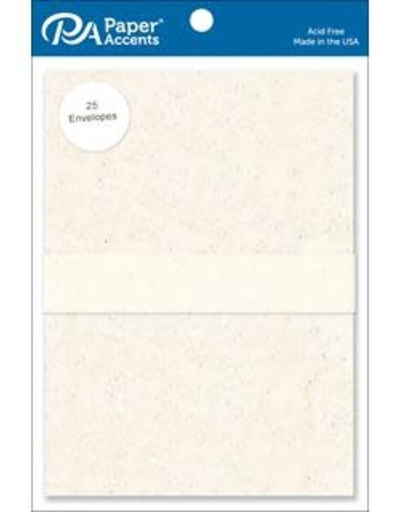 Paper Accents A7  Envelopes 25 Piece Pack 5.25 X 7.25 Recycled Birch