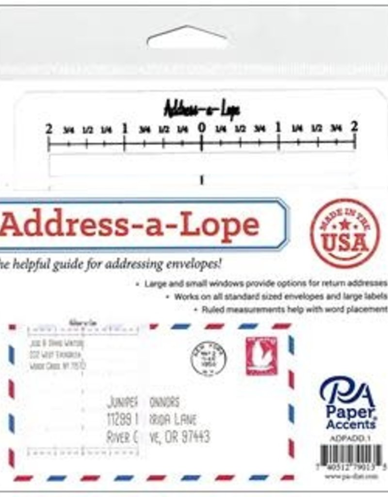 Paper Accents Address-a-Lope Plastic 2 in 1 Addressing Template