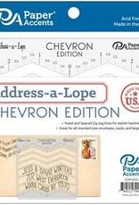 Paper Accents Address-A-Lope Plastic Template Chevron