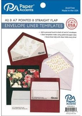 Paper Accents Envelope Liner Templates 4 Piece A2 & A7