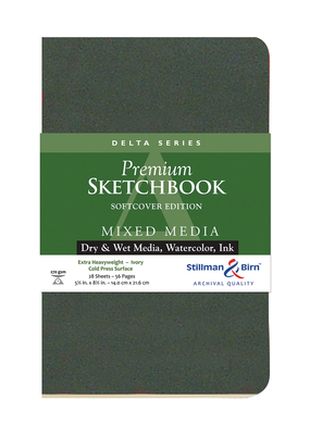 Stillman & Birn Sketchbook  Delta Series Premium Soft-Cover  5.5 x 8.5 Inch