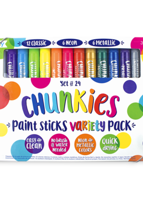 Ooly Chunkies Paint Sticks Set of 24