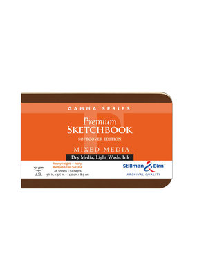 Stillman & Birn Sketchbook Gamma Series Soft Cover Landscape 5.5 x 3.5 Inch