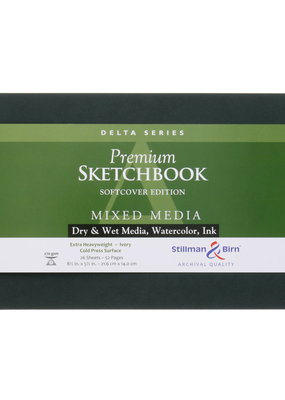 Stillman & Birn Sketchbook Delta Series Soft Cover Sketch Landscape 8.5 x 5.5 Inch