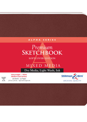 Stillman & Birn Sketchbook Alpha Series Premium Soft Cover Square 7.5 Inch