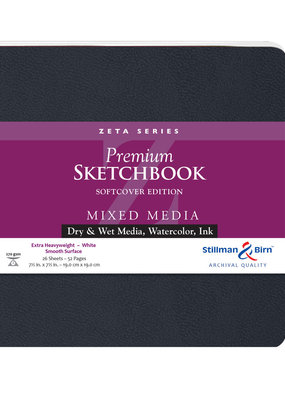 Stillman & Birn Sketchbook  Zeta Series Premium Soft Cover Square 7.5 Inch