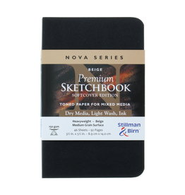 Stillman & Birn Sketchbook  Nova Series Premium Soft Cover Beige 3.5 x 5.5 Inch