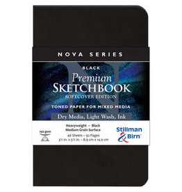 Stillman & Birn Sketchbook  Nova Series Premium Soft Cover Black 3.5 x 5.5 Inch