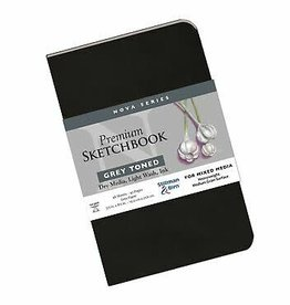 Stillman & Birn Sketchbook  Nova Series Premium Soft Cover Grey 3.5 x 5.5 Inch
