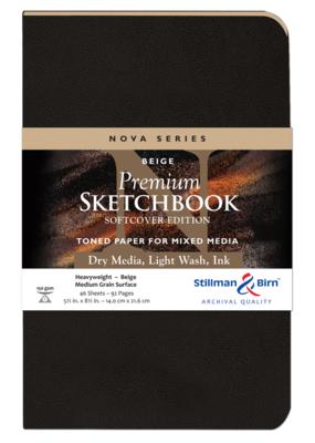 Stillman & Birn Sketchbook  Nova Series Premium Softcover Beige 5.5 x 8.5 Inch