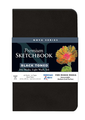 Stillman & Birn Sketchbook  Nova Series Premium Softcover Black 5.5 x 8.5 Inch