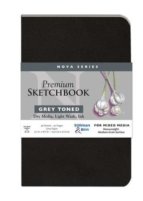Stillman & Birn Sketchbook  Nova Series Premium Softcover Grey 5.5 x 8.5 Inch