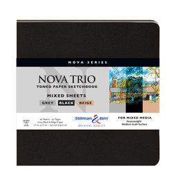 Stillman & Birn Sketchbook  Nova Series Nova Trio Soft Cover Square 7.5 Inch