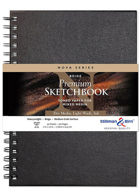 Stillman & Birn Sketchbook  Nova Series Wire Bound Beige 7 x 10 Inch