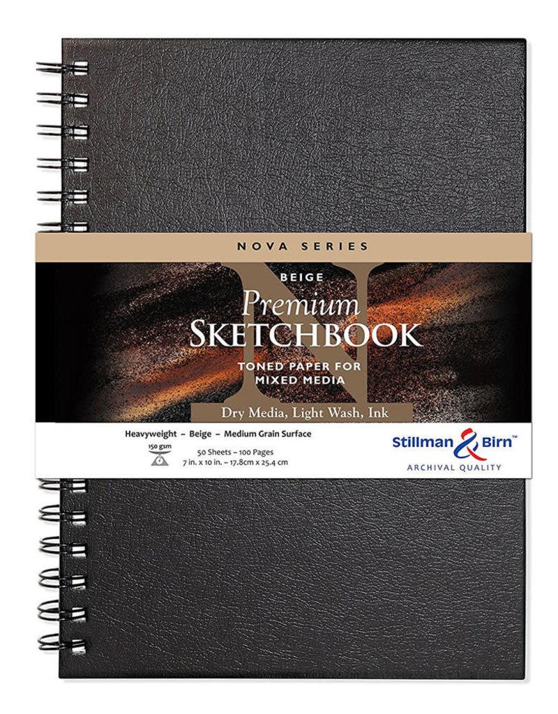 Stillman & Birn Sketchbook  Nova Series Wire Bound Beige 7 x 10 Inch