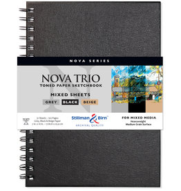 Stillman & Birn Sketchbook  Nova Series Wire Bound Nova Trio 7 x 10 Inch