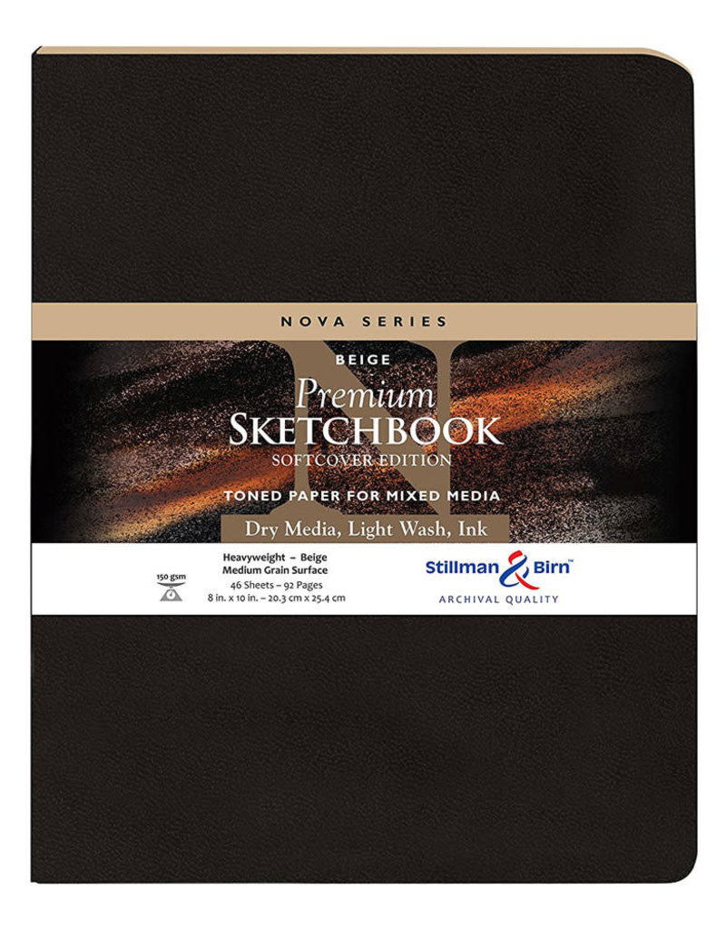 Stillman & Birn Sketchbook Nova Series Premium Soft Cover Beige 8 x 10 Inch