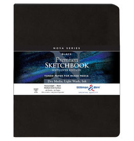 Stillman & Birn Sketchbook  Nova Series Premium Soft Cover Black 8 x 10 Inch