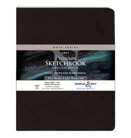 Stillman & Birn Sketchbook  Nova Series Premium Soft Cover Grey 8 x 10 Inch