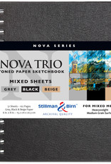 Stillman & Birn Sketchbook Nova Series Wire Bound Nova Trio 6 x 8 Inch