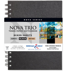 Stillman & Birn Sketchbook Nova Series Wire Bound Nova Trio 6 x 8 Inch