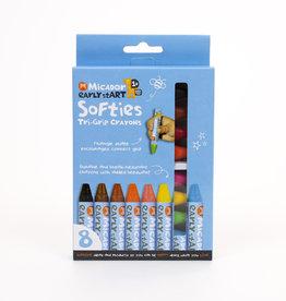 Micador Softies Tri-Grip Crayons 8 Pack