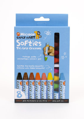 Micador Softies Tri-Grip Crayons 8 Pack