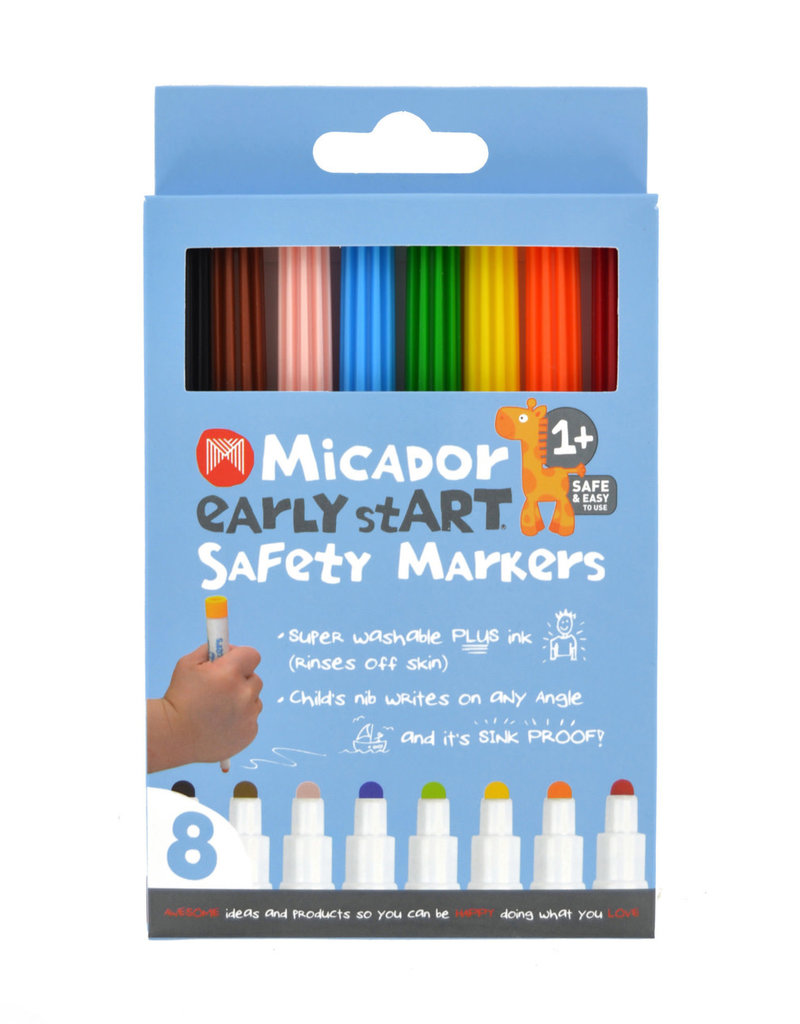 Micador Safety Markers 8 Color Pack