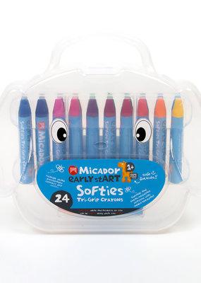 Micador Softies Tri-Grip Crayons 24 Case