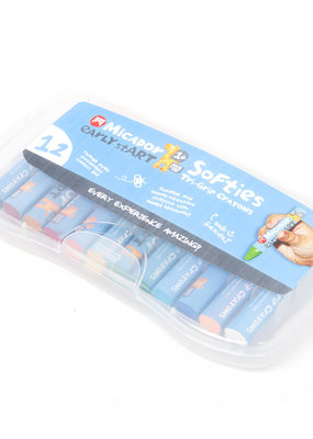 Micador Softies Tri-Grip Crayons 12 Case