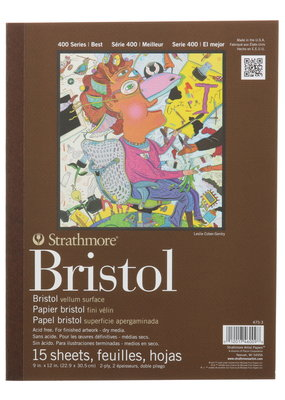 Strathmore Strathmore Bristol Vellum Paper Pad Series 400 9 x 12 Inch