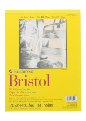 Strathmore Strathmore Bristol Smooth Paper Pad Series 300 9 x 12 Inch