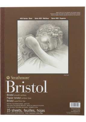 Strathmore Strathmore Bristol Smooth Paper Pad Series 400 11 x 14 Inch