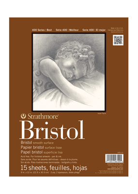 Strathmore Strathmore Bristol Smooth Paper Pad Series 400 9 x 12 Inch
