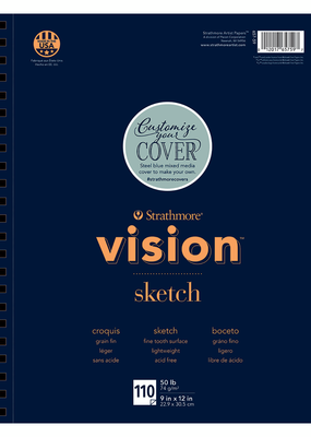 Strathmore Strathmore Vision Sketch Paper Pad Spiral Bound 9 x 12 Inch