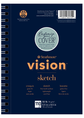 Strathmore Strathmore Vision Sketch Paper Pad Spiral Bound  5.5 x 8.5