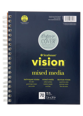 Strathmore Strathmore Vision Mixed Media Paper Pad Spiral Bound 7 x 10 Inch