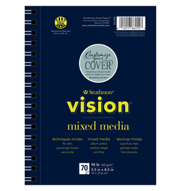 Strathmore Strathmore Vision Mixed Media Paper Pad Spiral Bound 5.5 x 8.5 Inch