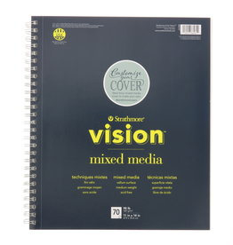 Strathmore Strathmore Vision Mixed Media Paper Pad Spiral Bound 11 x 14 Inch