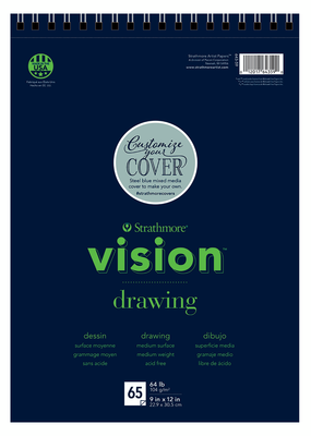 Strathmore Strathmore Vision Drawing Paper Pad Spiral Bound 9 x 12 Inch