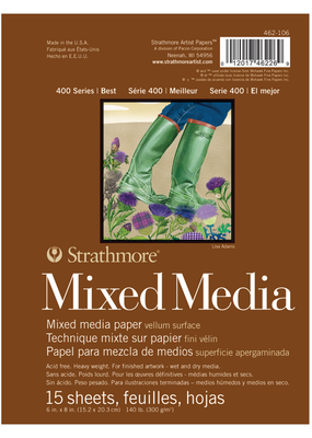 Strathmore Strathmore Mixed Media Paper Pad 400 Series 6 x 8 Inch
