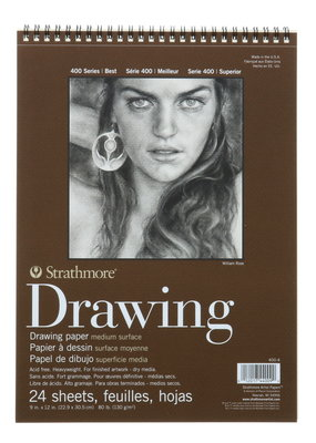 Strathmore Strathmore Drawing Paper Pad 400 Series 9 x 12 Inch