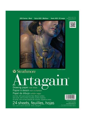 Strathmore Strathmore Black Artagain Pad 400 Series 9 x 12 Inch